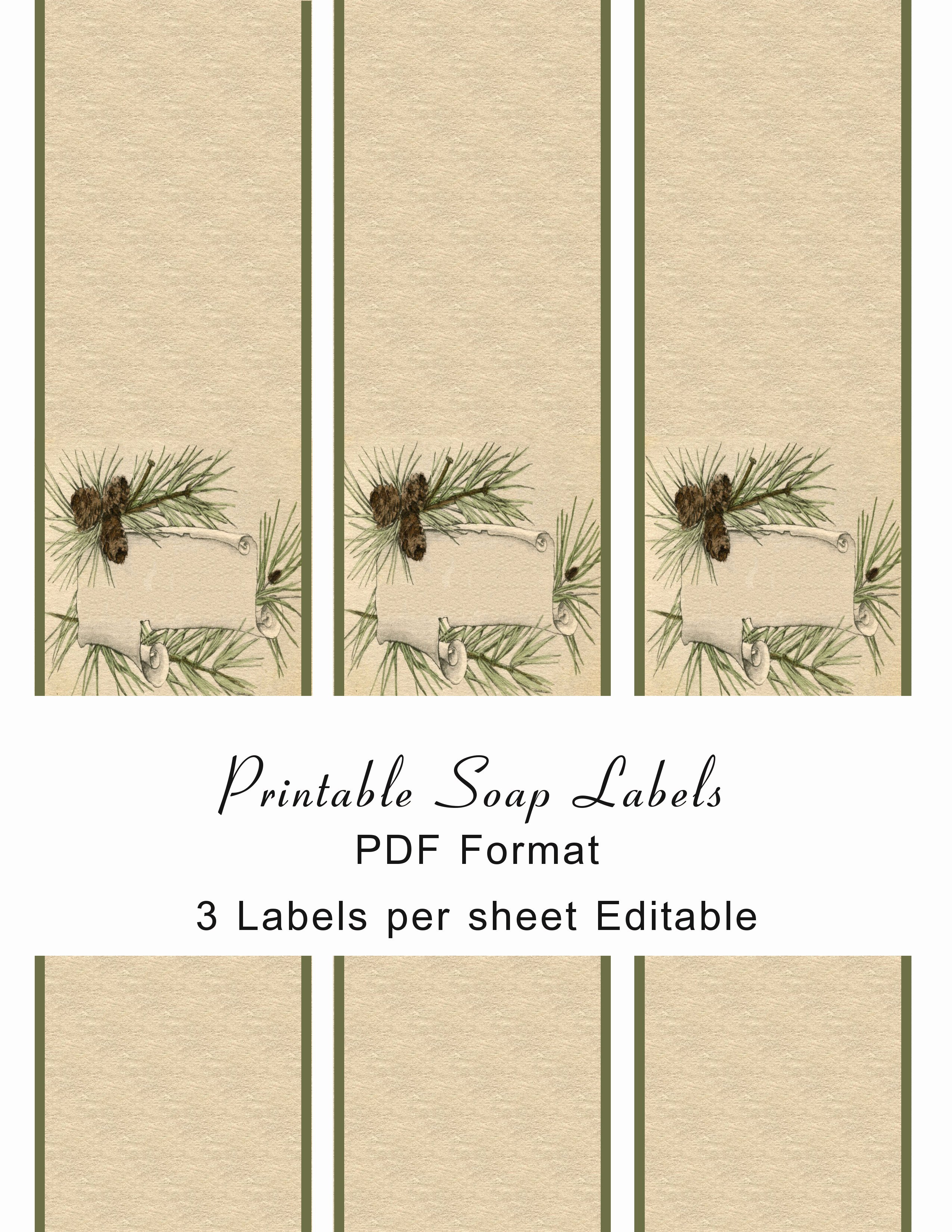 10 Best Of Handmade soap Label Templates Free