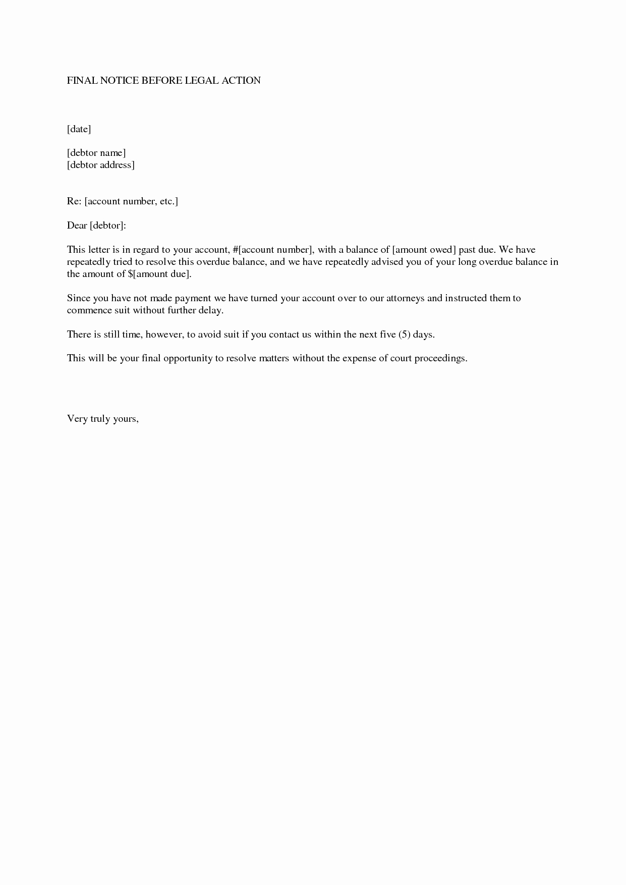 10 Best Of Legal Notice Letter Legal Notice