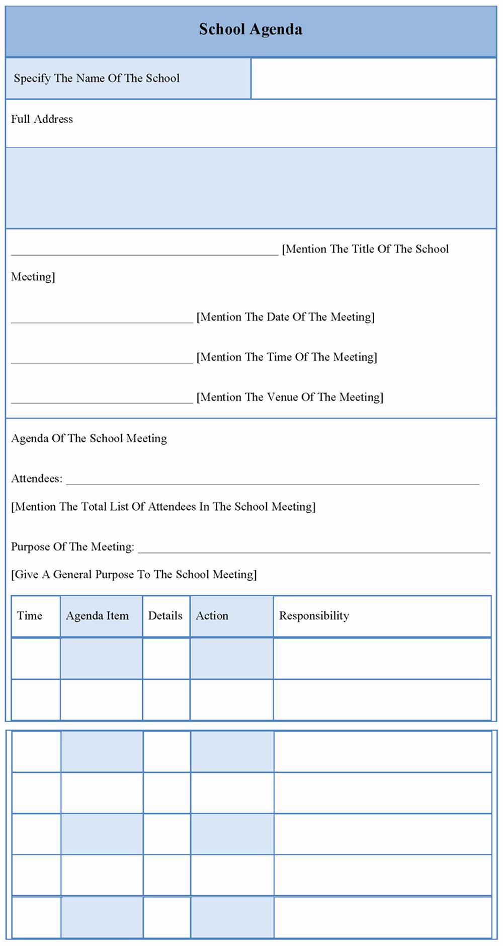 10 Best Of School Meeting Minutes Template Free