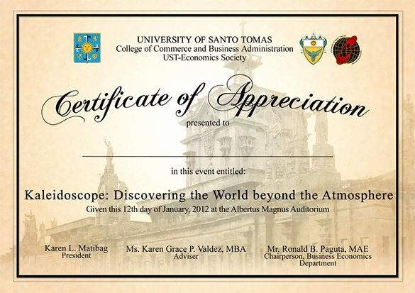 10 Certificate Appreciation Template Free Download