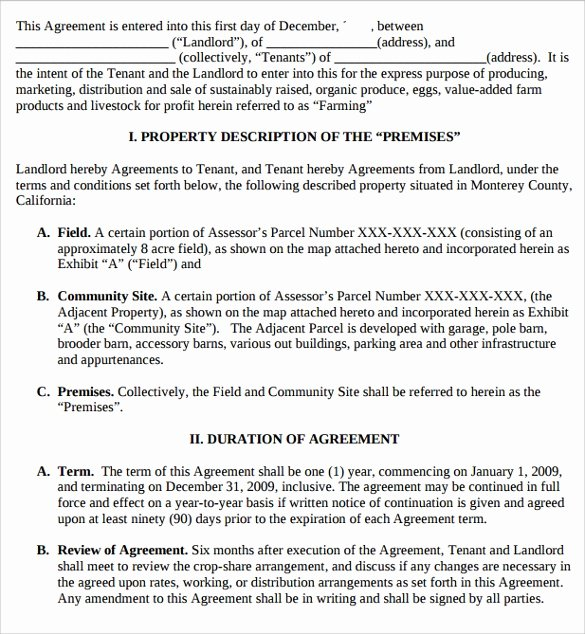 10 Pasture Lease Agreement Templates Download for Free