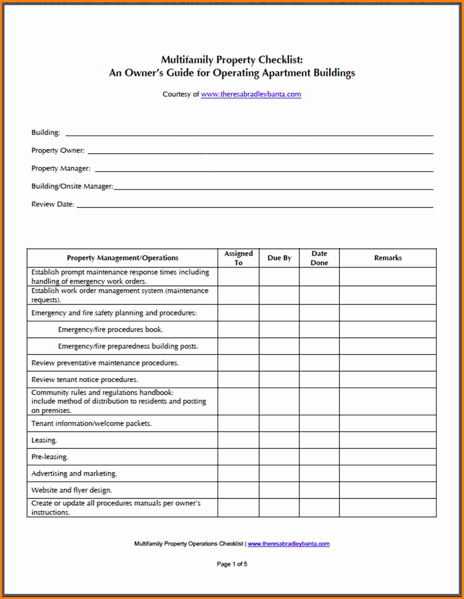 11 Apartment Building Maintenance Checklist