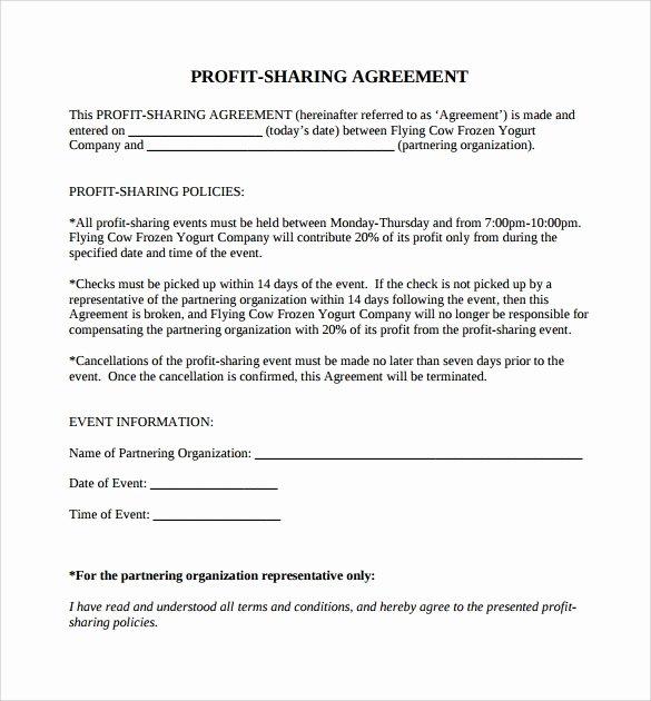 11 Sample Profit Sharing Agreements