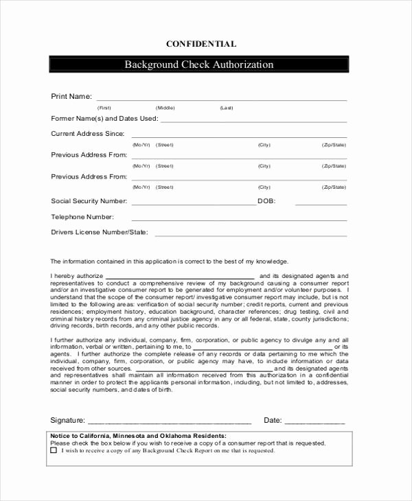 12 Check Authorization form Sample Free Sample Example