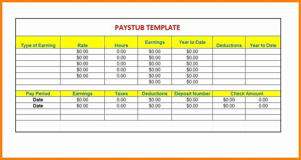 12 contractor pay stub template