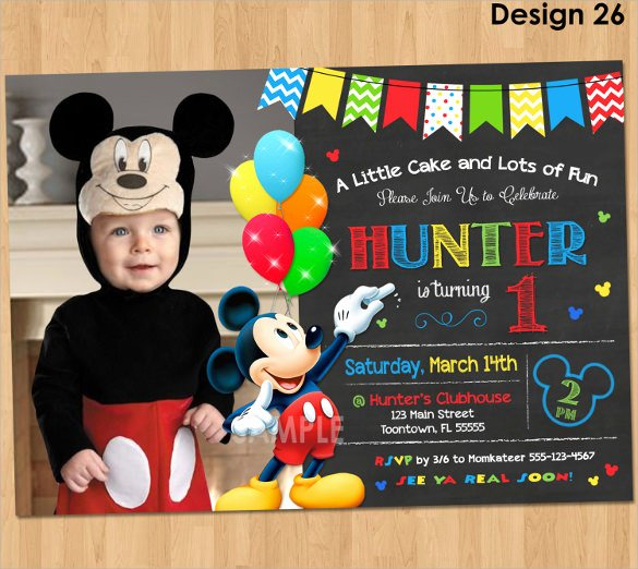 14 Mickey Mouse Invitation Templates to Download