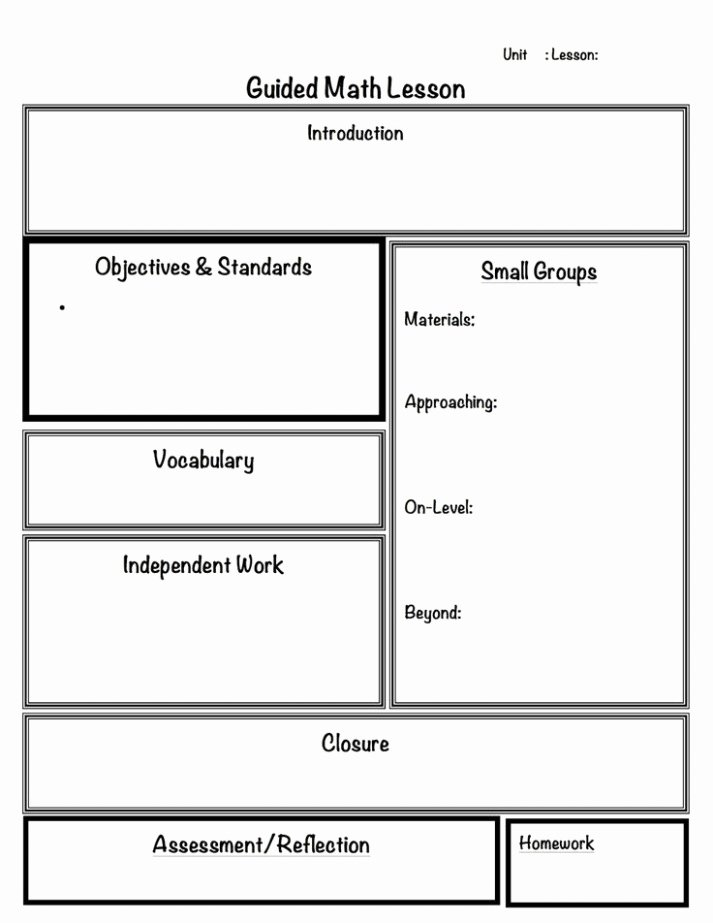 14 Mini Lesson Plan Template Create Your Own Style