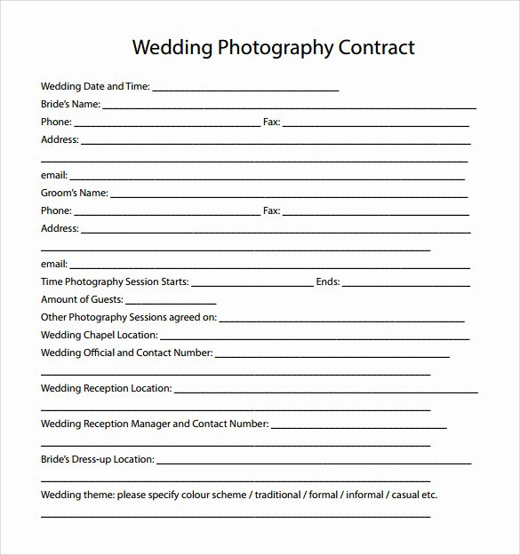 14 Wedding Graphy Contract Templates to Download