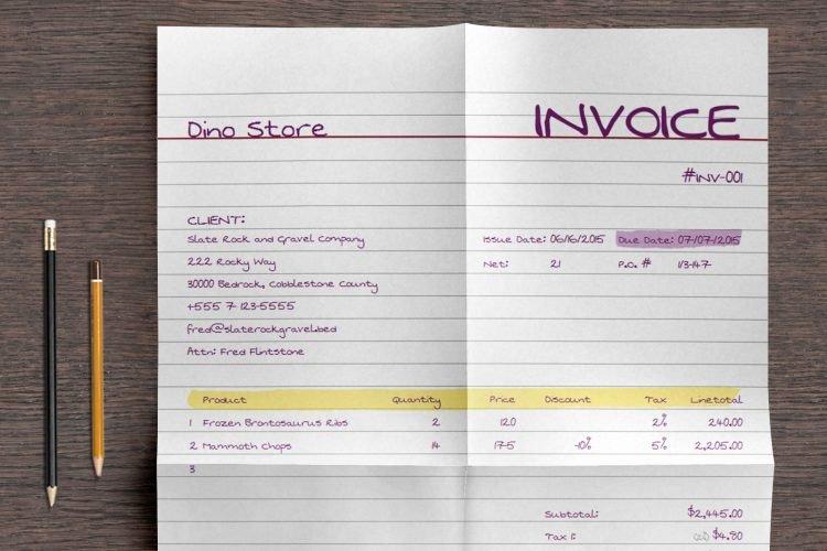 15 Contoh Invoice Tagihan Pembayaran