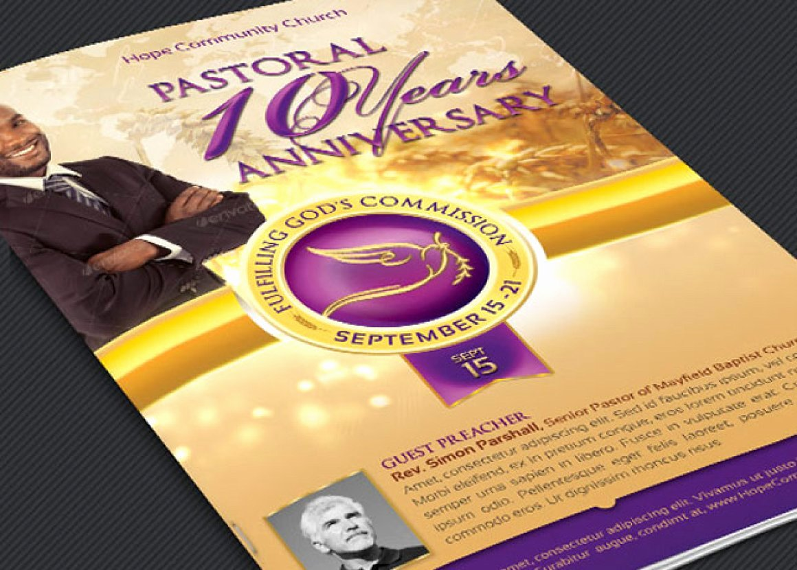 17 Best Pastor Anniversary Program Templates 2018