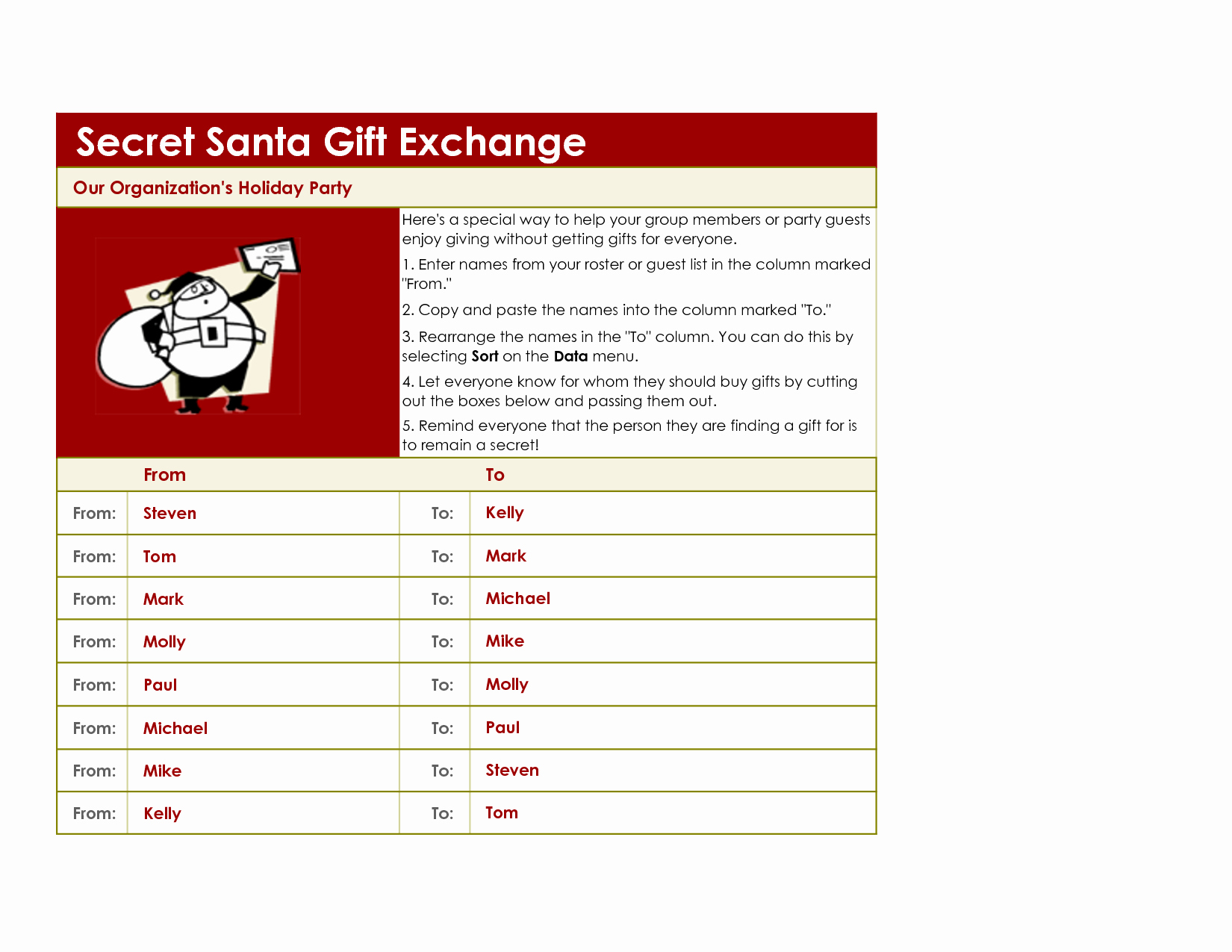17 Best S Of Gift Idea Secret Santa forms Secret