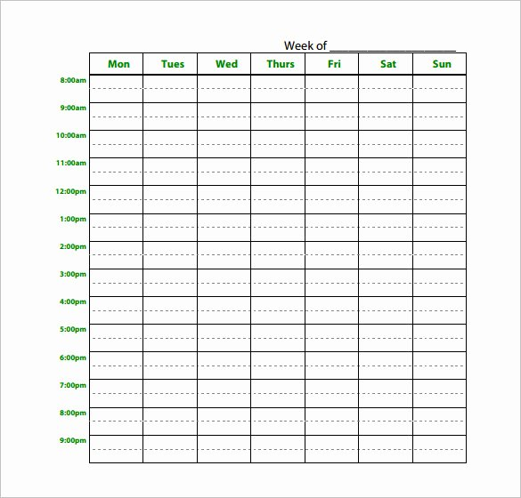 18 Study Schedule Templates Pdf Doc