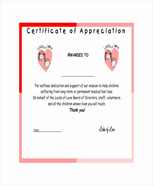 19 Certificate Of Appreciation Templates Free Sample