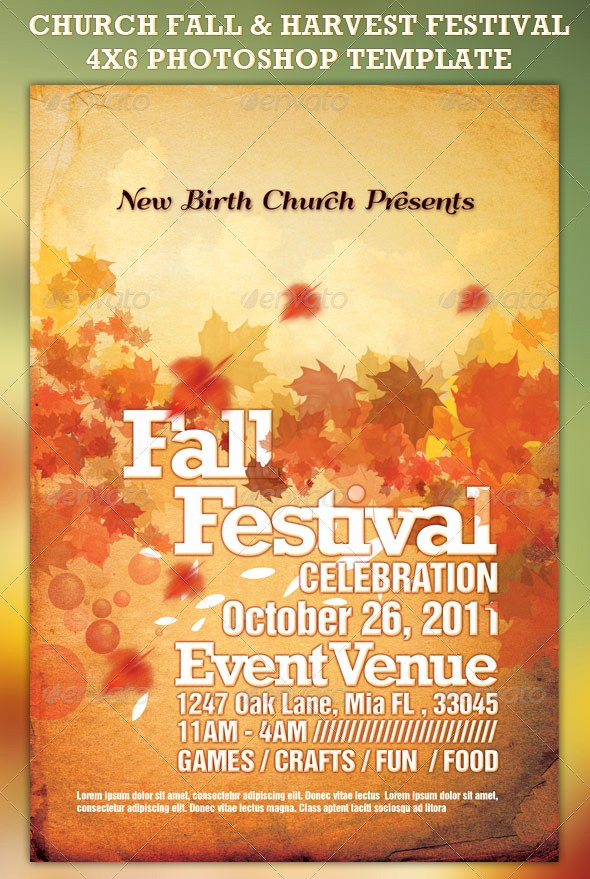 19 Free Fall Festival Flyer Template Psd Fall