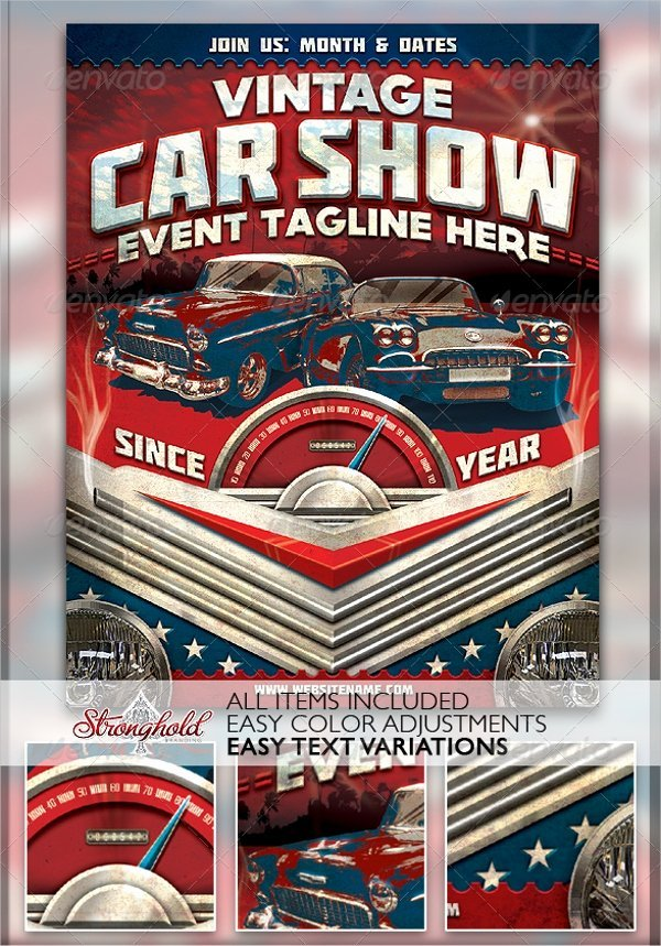 20 Car Show Flyer Template Free Psd Ai Eps format