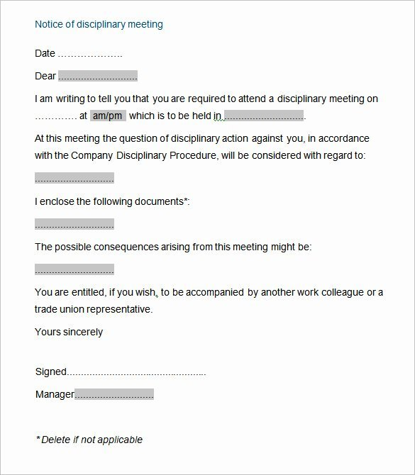 20 Sample Disciplinary Letter Templates Word Apple