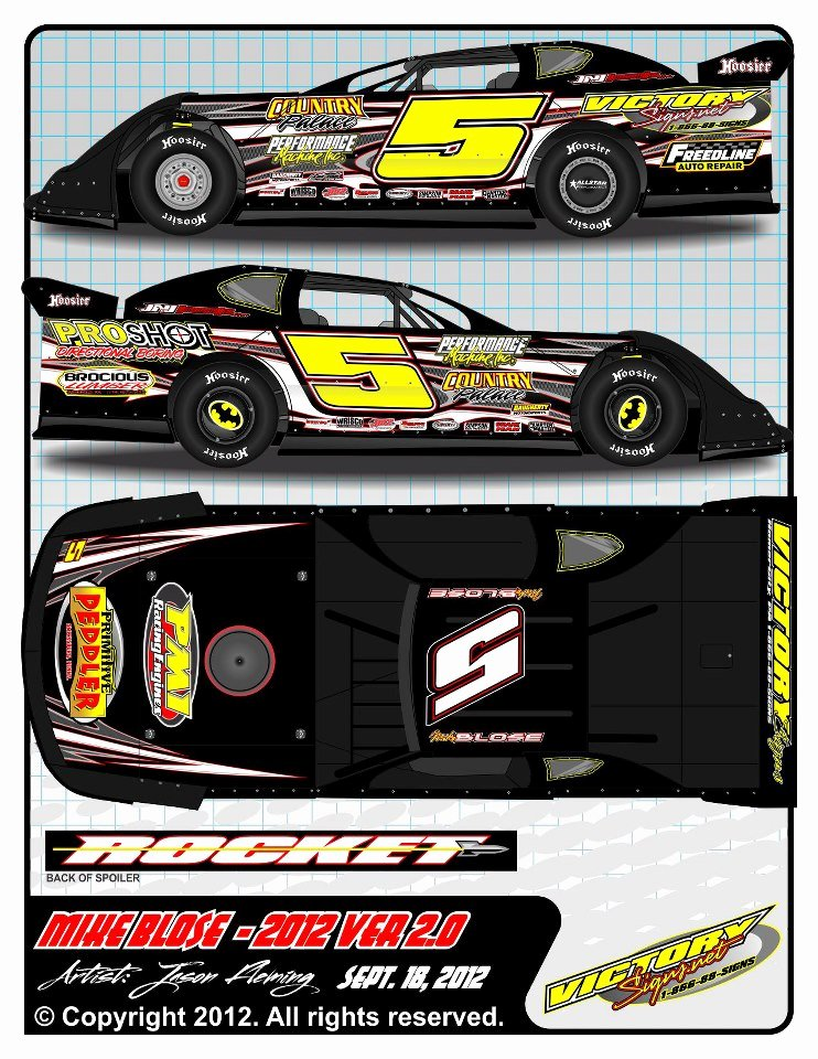 2012 Mike Blose Dirt Late Model Wrap 2 by 54warrior On