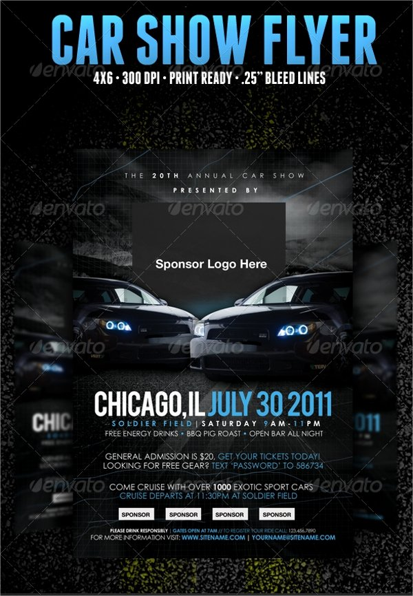 21 Car Show Flyer Templates