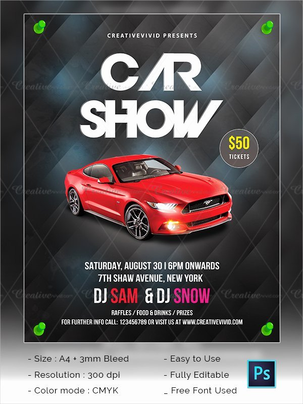 24 Car Show Flyer Templates Free Psd Ai Eps format