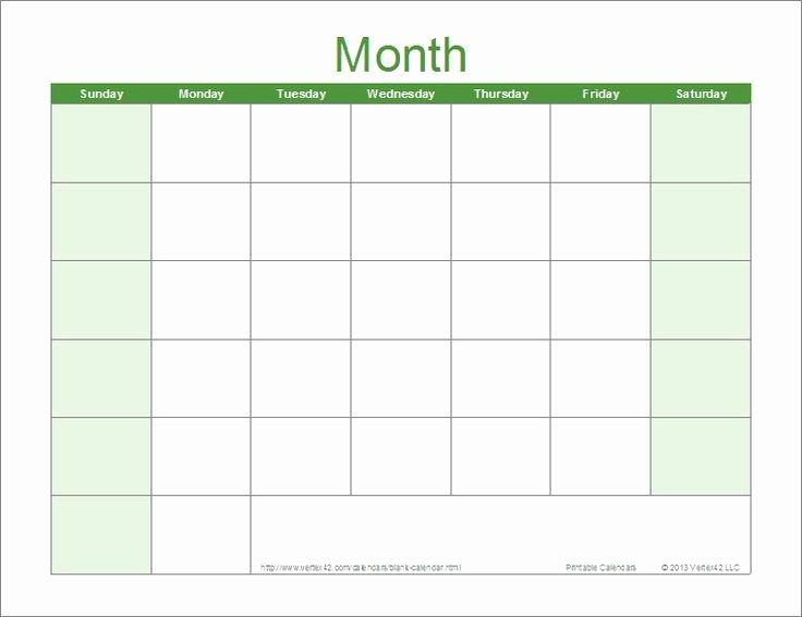 25 Best Ideas About Printable Blank Calendar On Pinterest