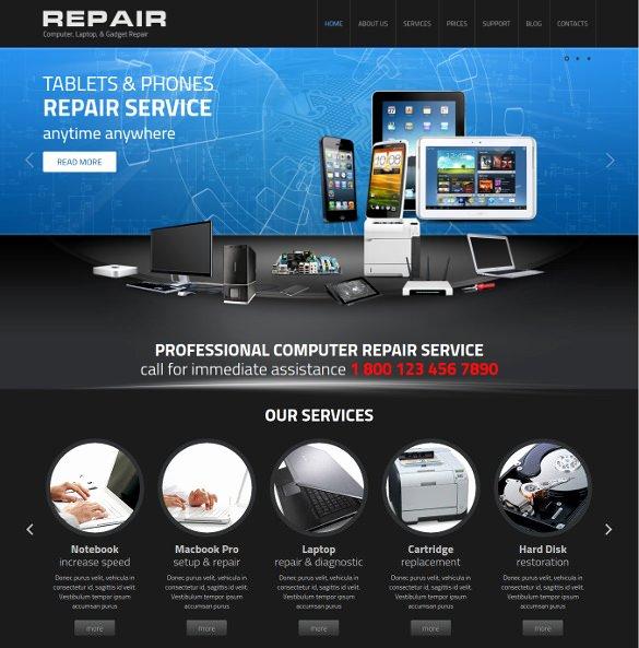 25 Puter Repair Website themes & Templates