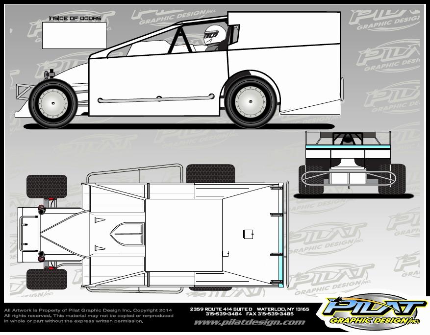 26 Of Race Car Sprint Car Template