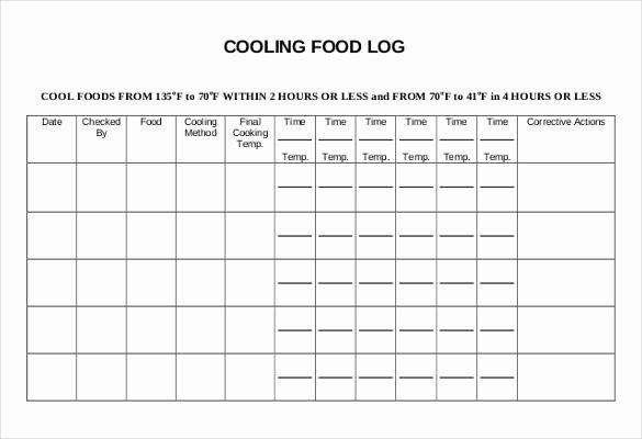 30 Food Log Templates Doc Pdf Excel
