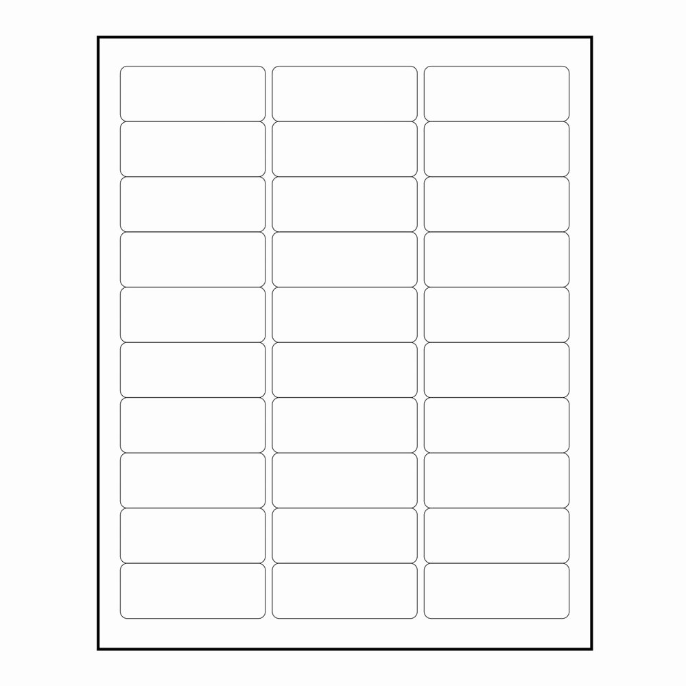 "3000 Blank 1"" X 2 5 8"" Return Address Labels Inkjet"