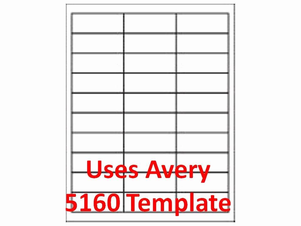 """3000 Laser Ink Jet Labels 1"""" X 2 5 8"""" 30up Address"""