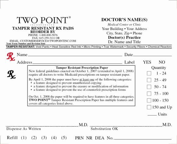 32 Real & Fake Prescription Templates Printable Templates