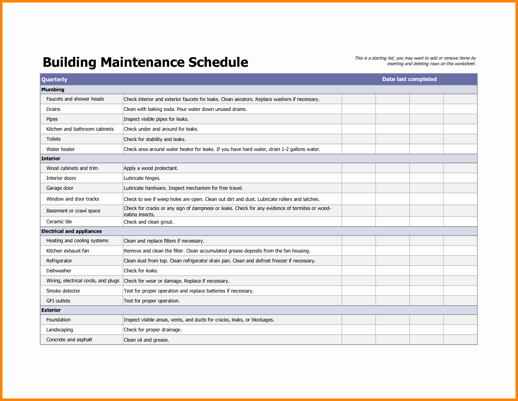 37 Facility Management Template Facility Maintenance