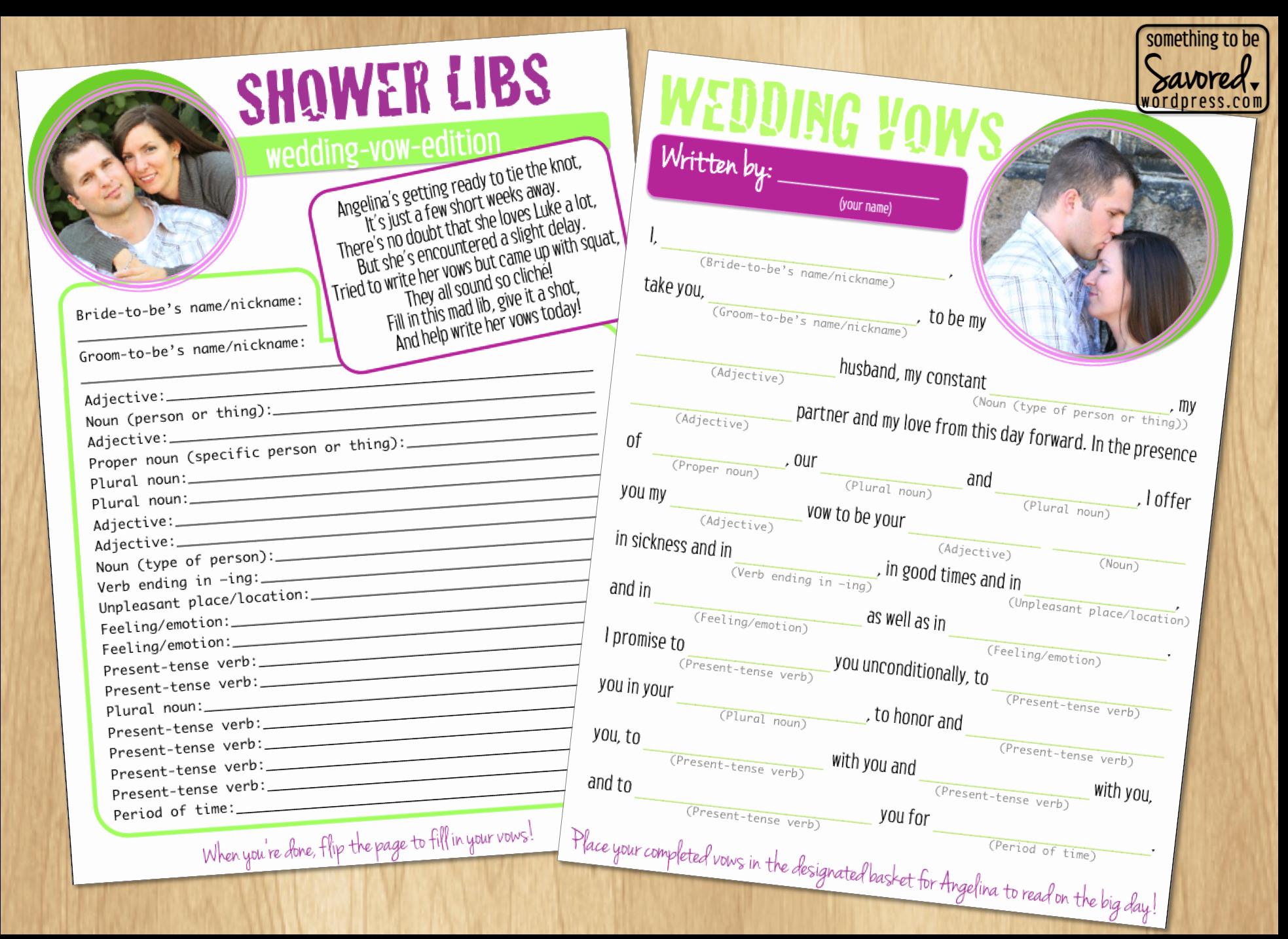 4 Best Of Bridal Shower Mad Libs Printable Free