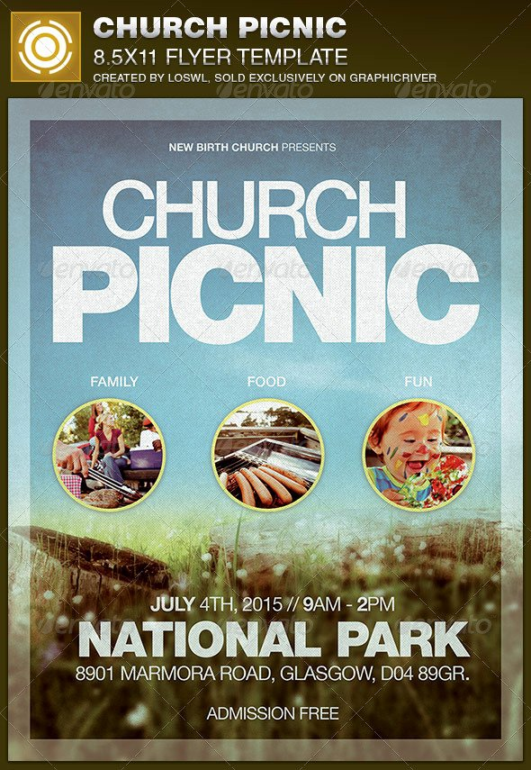 post family picnic flyer templates