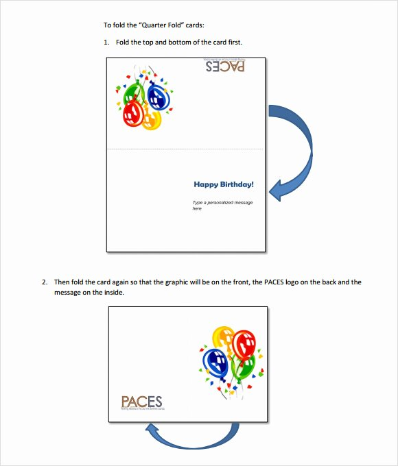 4 Best Of Quarter Fold Greeting Cards Templates