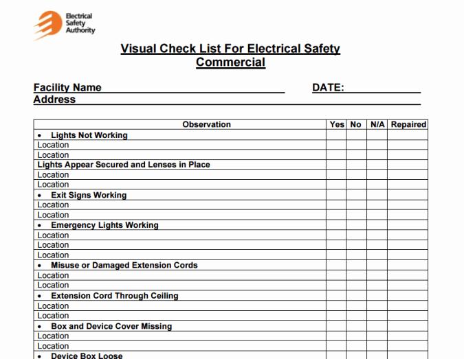 4 Facility Maintenance Checklist Templates Excel Xlts