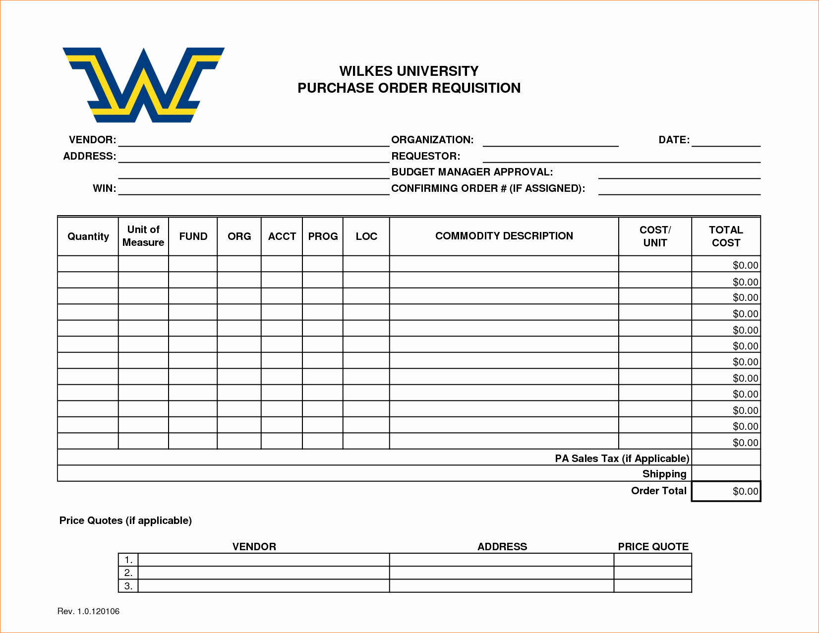4 Purchase Requisition Template