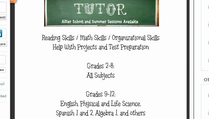 4 tutoring flyer templates