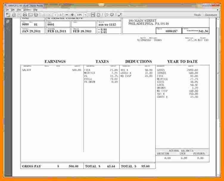 5 1099 pay stub template excel