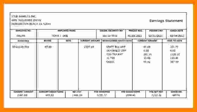 5 1099 Pay Stub Template