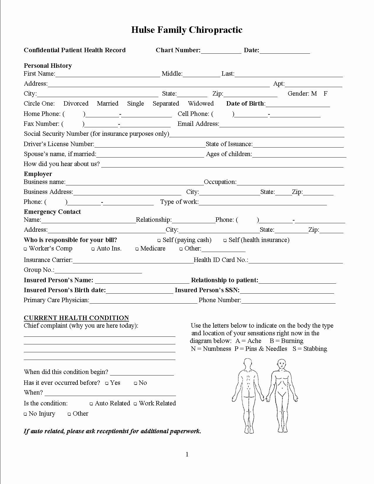 5 Best Of Printable Chiropractic forms