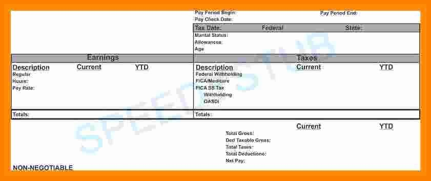 5 Independent Contractor Pay Stub Template