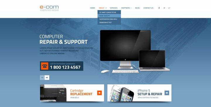 5 top Ranked Puter Repair Website Templates
