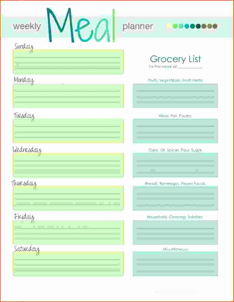 5 Weekly Meal Planning Template Bookletemplate