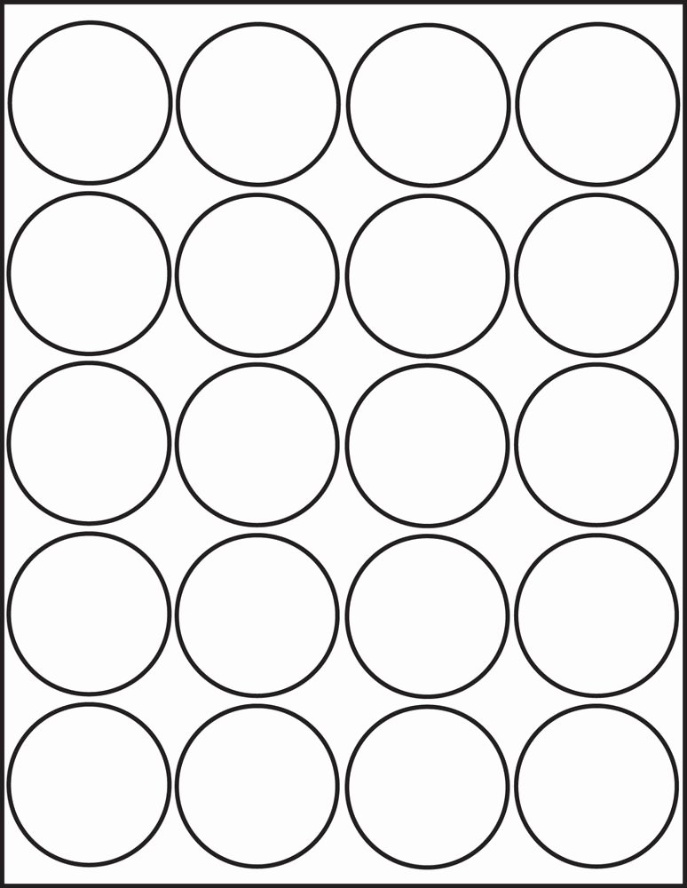 500 Printable Laser Glossy White Round Stickers 2 Inch