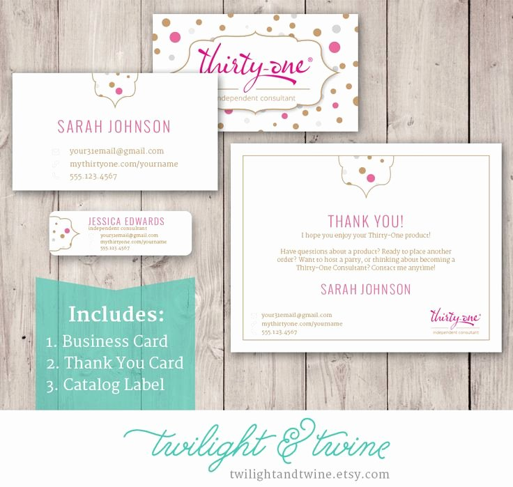 thirty one scentsy business cards