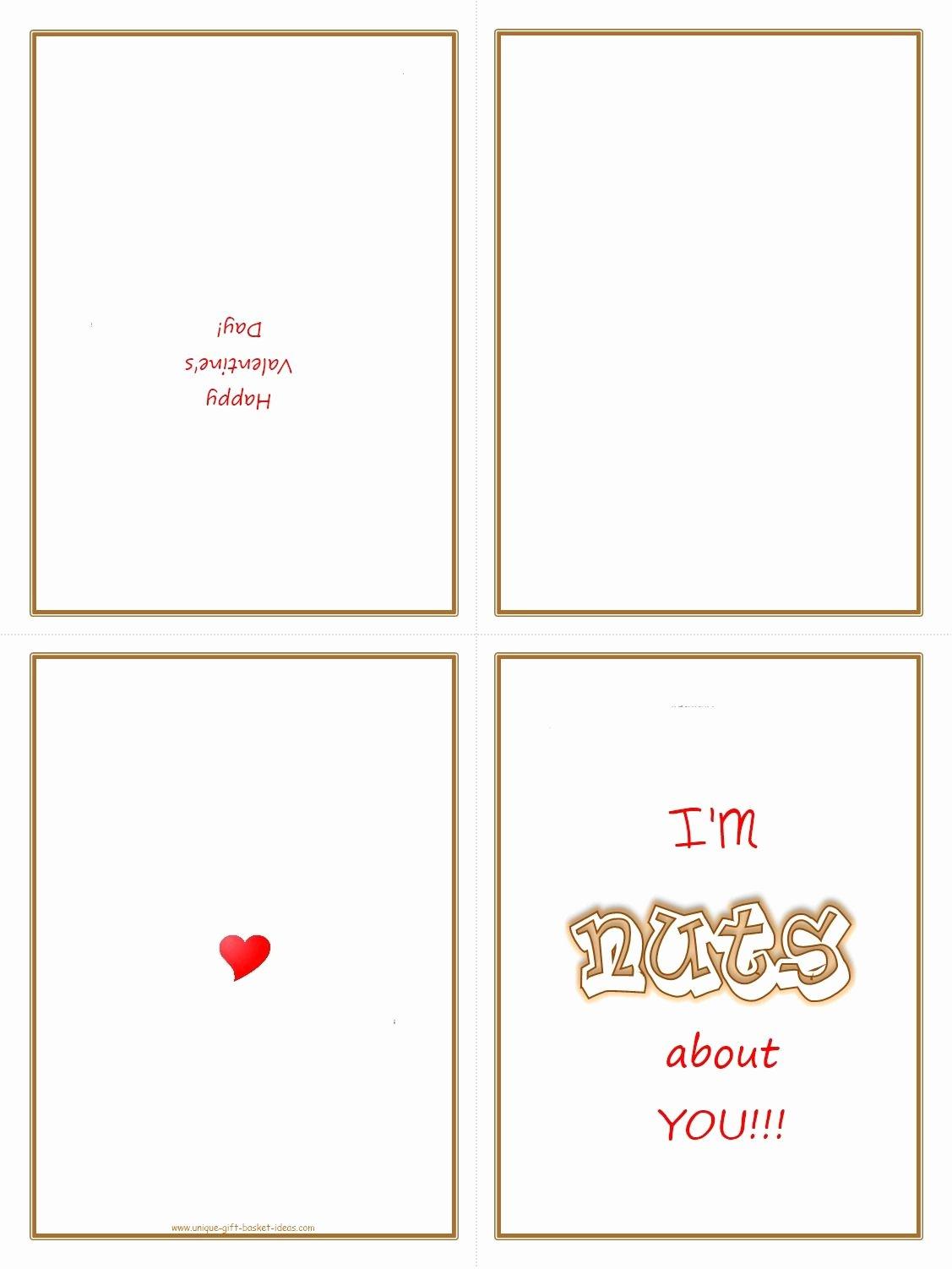 6 Best Of Printable Fold Valentine Cards