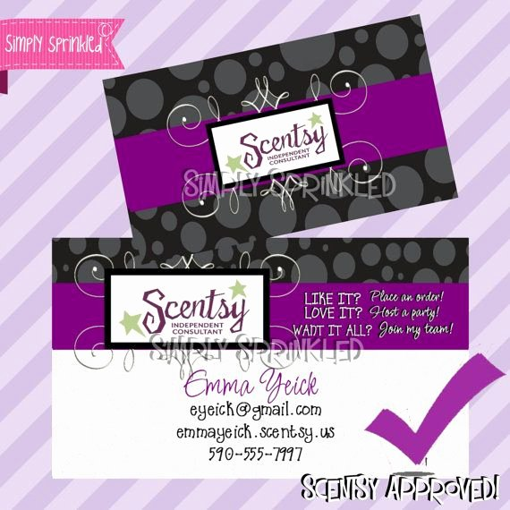 6 Best Of Scentsy Business Cards Vistaprint