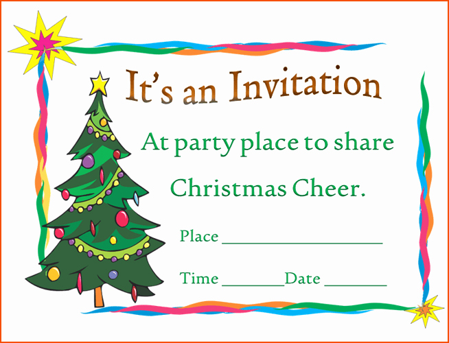 6 Christmas Party Invitation Template Bookletemplate
