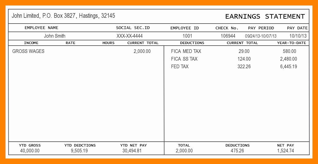 6 Contractor Pay Stub