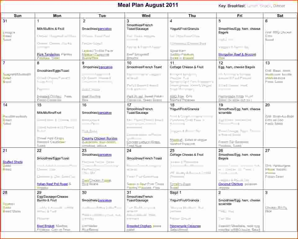 6 Monthly Meal Planner Template Bookletemplate